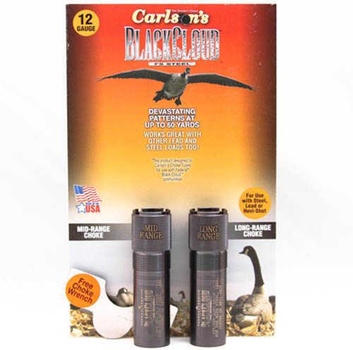 Carlsons 12 Gauge Long Range Beretta Benelli Mobil Black Cloud Choke Tube, 2-Pack Md: 09102