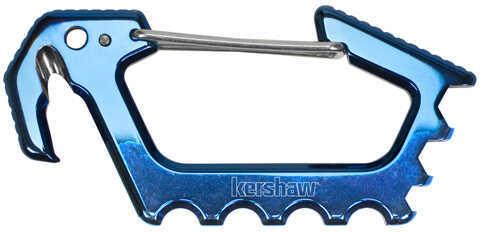 Kershaw Jens Carabiner Blue Polished Titanium Carbo-Nitride Coating Md: 1150BLUX
