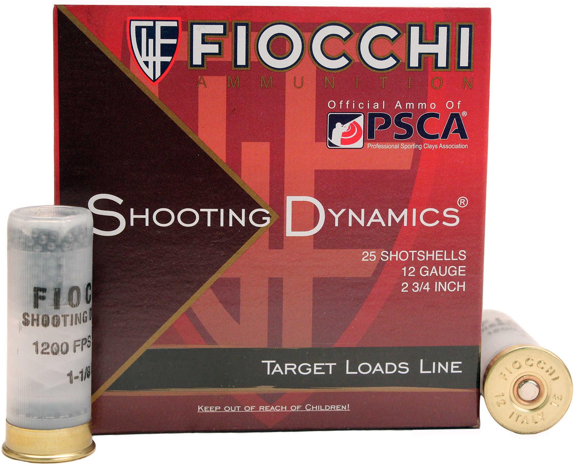 "Fiocchi Shooting Dynamics Target 12 Gauge 2 3/4"" 3Dr 1 1/8 Oz #8 25 Rounds Ammunition 12SD18H8"