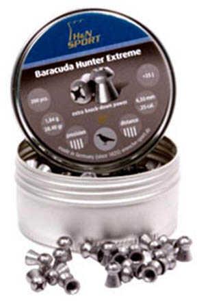 Hatsan USA H&N Baracuda Pellets .25 Caliber, 31.02 Grains, Round Nose, Per 200 Md: 92186350003