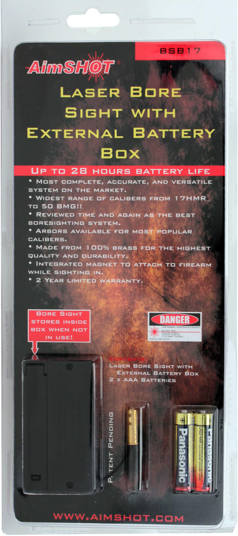 Aimshot Laser Boresight .17 Caliber w/External Battery Box BSB17