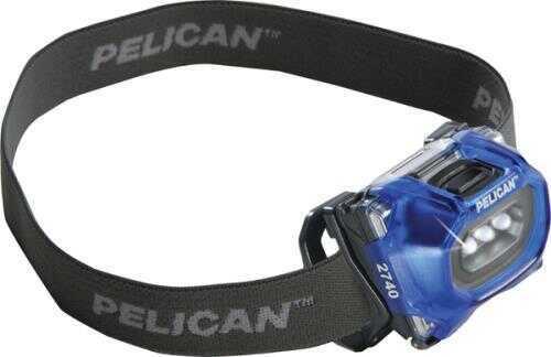 Pelican 2740C, Headlight, Gen 2, Trans. Blue Md: 027400-0101-120