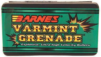 Barnes Bullets BAR 6MM 62 Grains Varmint Grenade 100/Box 30214