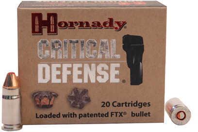 Hornady 357 Sig Critical Duty, 115 Grains, FTX, Per 20 Md: 91300
