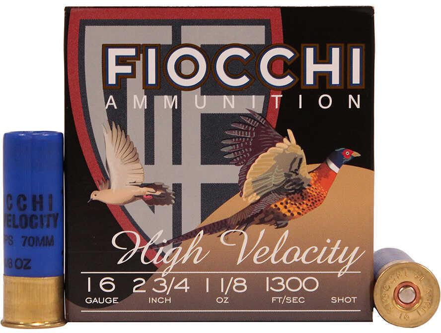 "Fiocchi Ammo 16 Gauge 2 3/4"" 1 1/8Oz #6 High Velocity 25 Rounds Ammunition 16HV6"