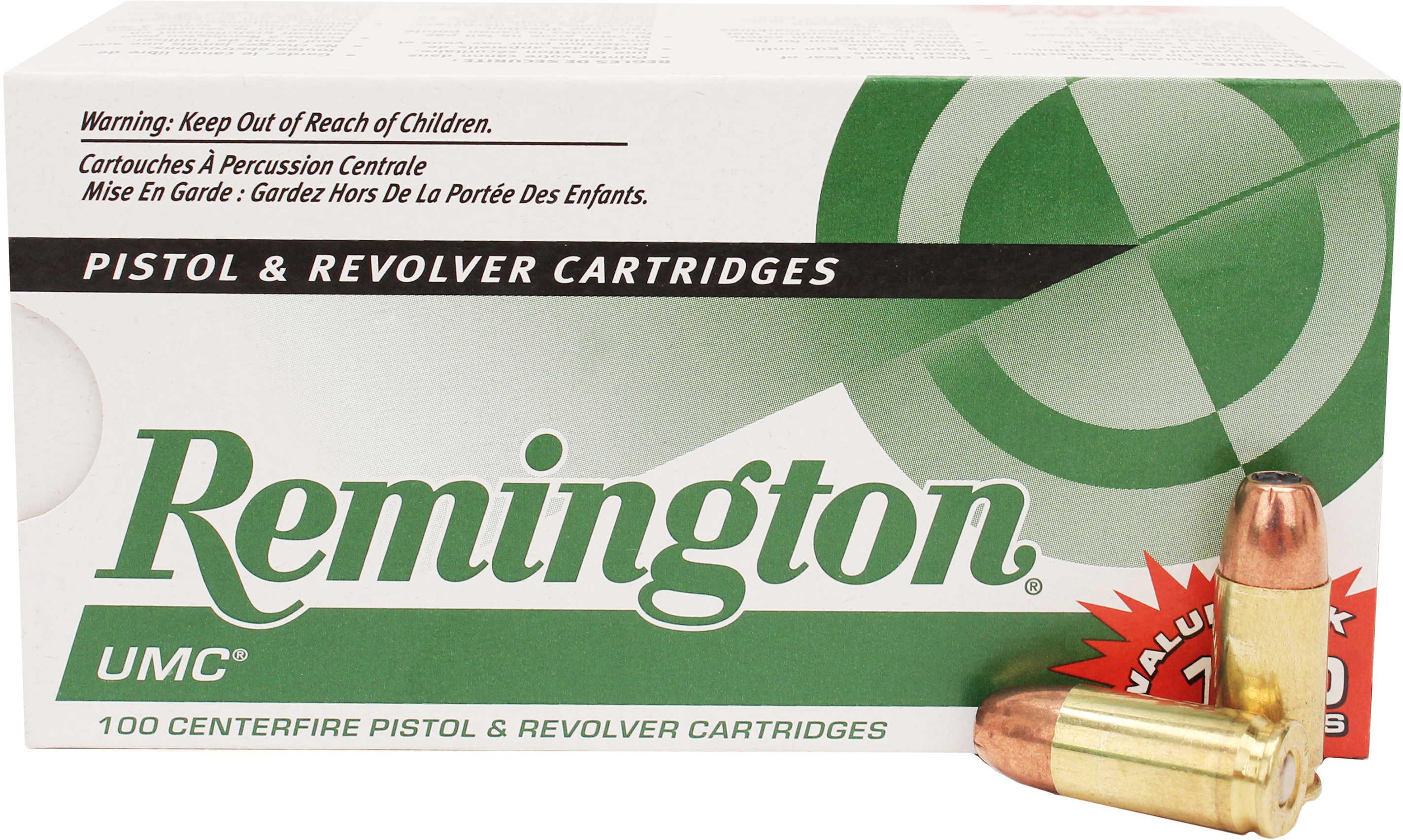 Remington UMC 9MM 115 Grains JHP 100 Rounds Value Pack 100 Rounds Ammunition L9MM1B