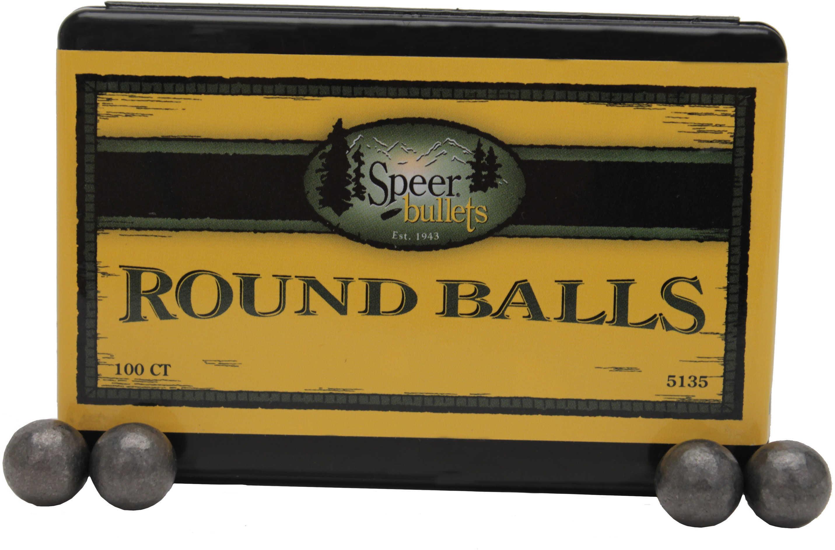 Speer Lead Round Balls .454 141 Grains (Per 100) 5135