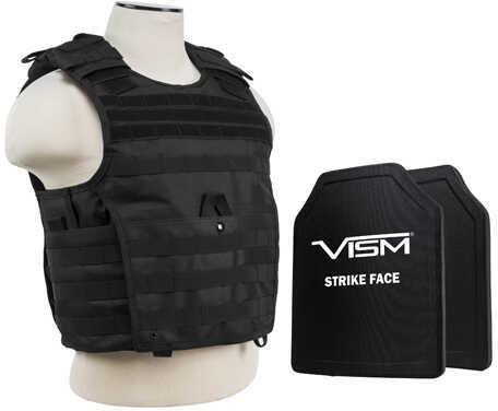 "NcStar Expert Carrier Vest with 10"" x 12"" PE Hard Plates Black Md: BPCVPCVX2963B-A"
