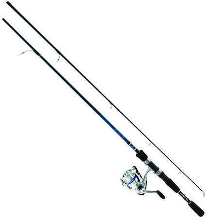 Daiwa D-Shock Freshwater Spinning Combo 2 Bearings, 5' Length, 2 Piece Rod, Ultra Light Power, Fiberglass