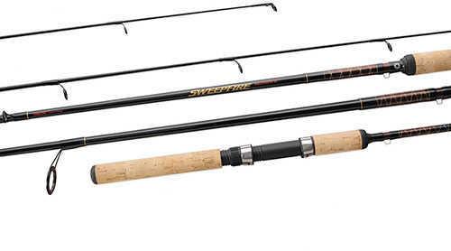 "Daiwa Sweepfire SWD Spinning Rod 6'6"" 2 Piece Rod, 6-14 lb Line Rate, 1/8-3/4 oz Lure Rate, Medium/Heavy P"