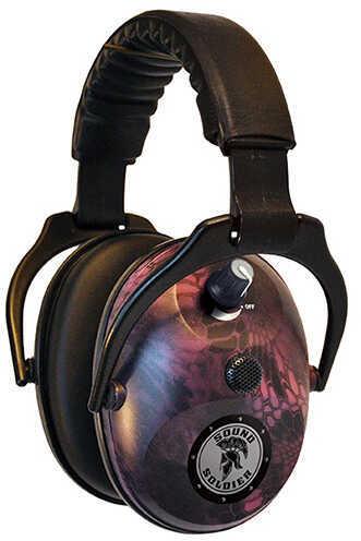 Do-All Traps Sound Soldier Dual Muff, 24dB, Kryptek Typhon Pink Md: ESDM-KTYP