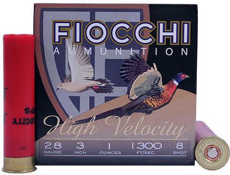 "Fiocchi Ammunition 28 Gauge High Velocity, 3"" Chamber, 8 Shot, 1 oz Md: 283HV8"