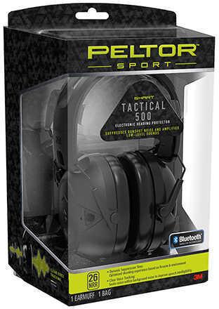 3M/Peltor Sport Tactical Earmuff Black NRR 26 TAC500-OTH