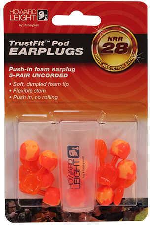 Leight TrustFit Pod Uncorded Push In Foam Earplug 5pr w Case