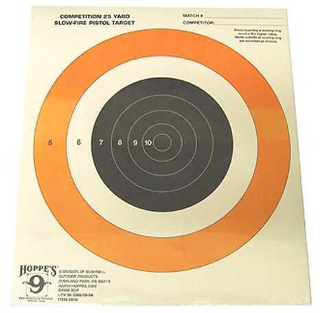 Hoppes Pistol Target 25yd Slow Fire B16 (20 pack) B16