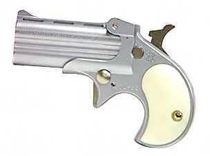 "Cobra Enterprises C22 Derringer Pistol 22 Long Rifle 2.4"" Barrel 2 Round Satin Nickel Pearl Colored Grip C22SP"