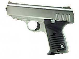 "Cobra Enterprises FS380 Semi Automatic Pistol 380 ACP Satin Nickle Black 3.5"" Barrel 7 Round FS380SB"