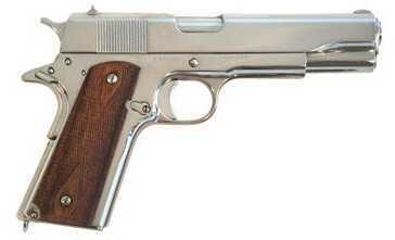 "Pistol Cimarron 1911 A1 Semi Automatic Handgun .45 ACP 5""Barrel 8 Rounds Nickel Finish 1911N00"