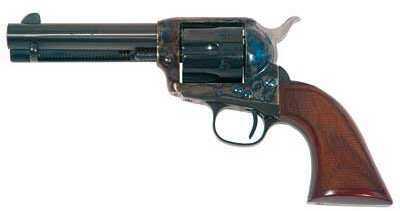 """Cimarron Evil Roy Competition 45 Colt 4.75"""" Barrel 6 Round Case Hardened 1873 Revolver"""