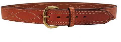 "Bianchi B9 Fancy Stitched Belt Tan, 32"" 12286"