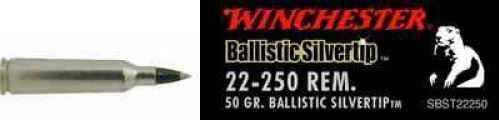 Winchester 22-250 Remington Supreme, 50gr., Ballistic Silvertip, (Per 20) SBST22250