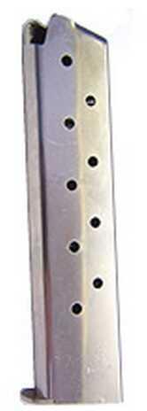 Mecgar 1911 10 Round Extended Nickel MGCG4510N