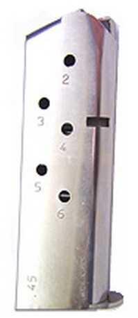 Mecgar 1911 6 Round Standard Nickel MGCO4506N