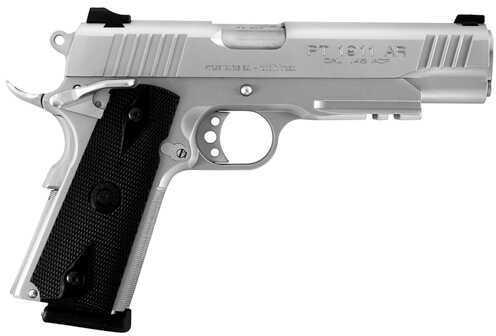 "Taurus PT1911 45ACP 5"" Barrel 8 Round Stainless Steel Picatinny Rail Semi Automatic Pistol 1191109SS1"