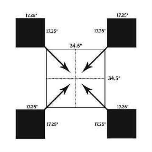 """Birchwood Casey Shoot-N-C Square Matrix Target 18"""", (Per 12) 34918"""
