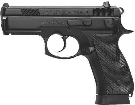 "CZ USA P06 40 S&W 3.9"" Barrel Black Polycoat Fixed Night Sights 2-10 Round Mags Semi Automatic Pistol  01185"