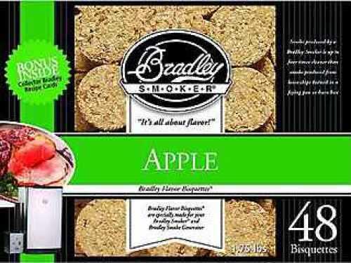 Bradley Technologies Smoker Bisquettes Apple (48 Pack) BTAP48