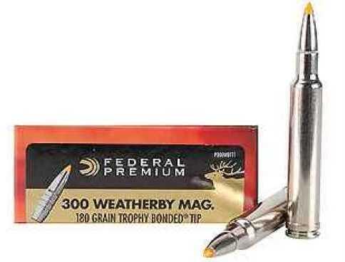 Federal Cartridge 300 Weatherby Magnum, 180 Grain, TB V-Shok (Per 20) P300WBTT1
