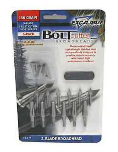 Excalibur Boltcutter 150gr SS 3Blade (Per 6) 6674