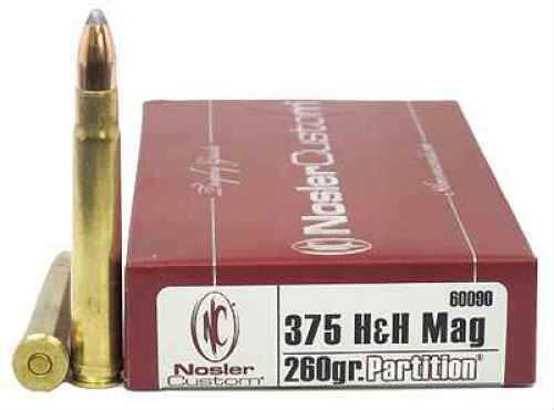 Nosler Trophy 375 Holland & Holland Magnum 260 Grains Partition (Per 20) 60090