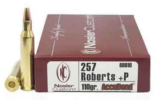 Nosler Trophy 257 Roberts +P 110gr AccuBond(Per 20) 60010