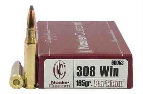 Nosler 308 Winchester, Trophy Ammunition 165gr Partition (Per 20) 60053