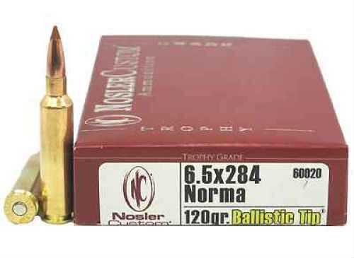 Nosler 6.5x284 Norma, Trophy Ammunition 120gr Ballistic Tip (Per 20) 60020