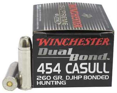 Winchester 454 Casull 260gr Dual Bond (Per 20) S454DB