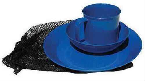 Chinook Acadia Tableware Set (Color: Blue)