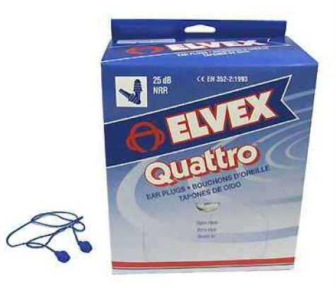 Elvex Quattro Corded Plugs 25NRR (Per 100) EP-411