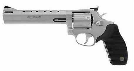 """Revolver Taurus M627 Tracker 357 Magnum 6.5"""" Ported Barrel 7 Round Matte Stainless Steel 2627069"""