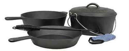 Stansport Cast Iron Preseasoned 6 Piece Cook Set 16903