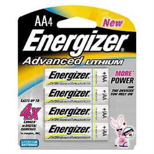 Energizer Advanced Lithium Batteries AA (Per 4) EA91BP-4