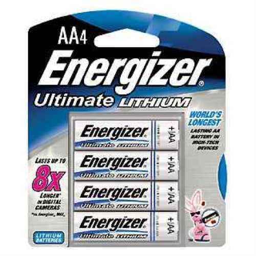 Energizer Ultimate Lithium Batteries AA (Per 4) L91BP-4