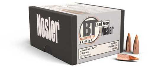 Nosler 22 Caliber (.224) Ballistic Tip Varmint Lead Free (Per 100) 45150