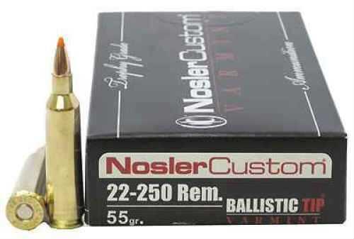 Nosler 22-250 Remington, Trophy Ammunition 55 Grains Ballistic Tip 20ct  60003