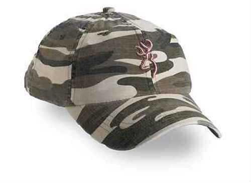 Browning Woodland Camo Cap, Pink Buckmark 308121411