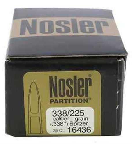 Nosler 338 Caliber 225gr Spitzer Partition (Per 25) 16436