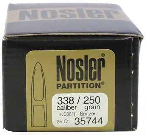 Nosler 338 Caliber 250gr Spitzer Partition (Per 25) 35744