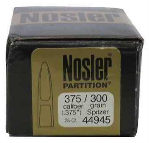 Nosler 375 Caliber 300gr Spitzer Partition (Per 25) 44945